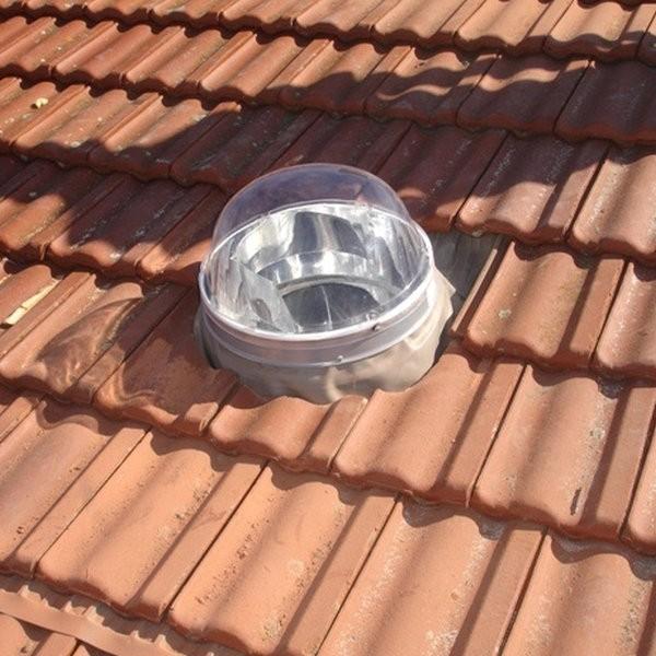 Puit de Lumière Solarspot en Kit ⌀375mm Toiture Ardoise en Pente