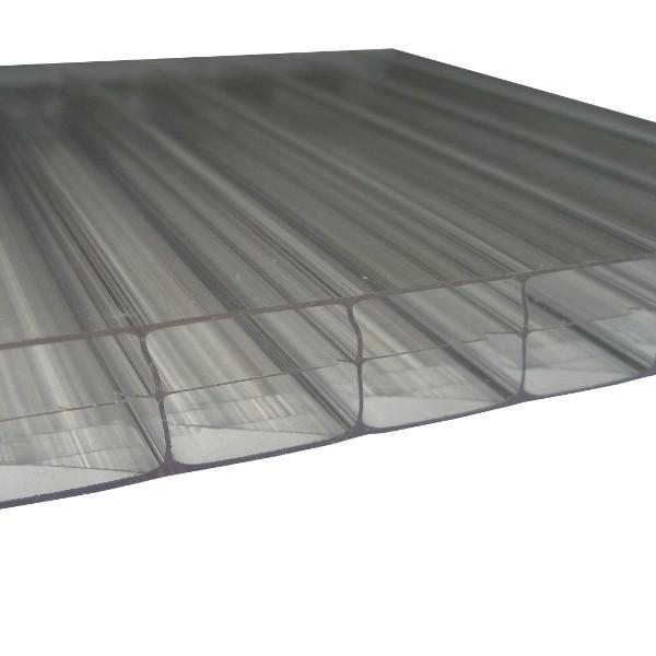 Plaque Polycarbonate Alvéolaire - Claire - 16 mm - 1,25 m - Longueur de 2 à 7 m
