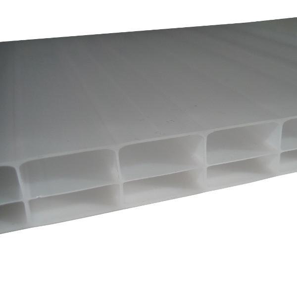 Plaque Polycarbonate Alvéolaire 2,1kg/m2 - Opale - 16 mm - 0,98 m - Longueur de 3 à 4 m