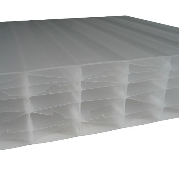 Plaque Polycarbonate Alvéolaire - Opale - 32 mm - 1,25 m - Longueur de 2 à 7 m