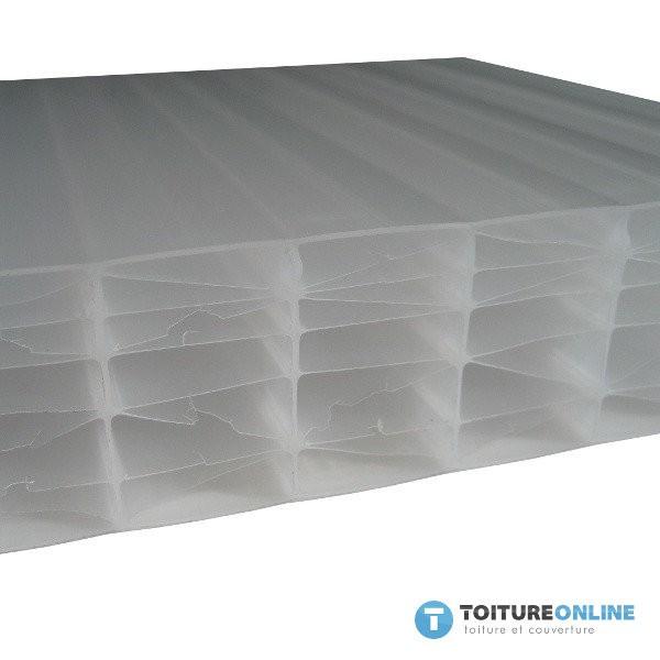 plaque polycarbonate alv olaire opale 32 mm 1 25x4m. Black Bedroom Furniture Sets. Home Design Ideas