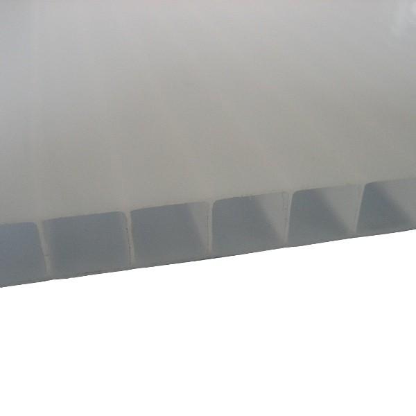 Plaque Polycarbonate Alvéolaire Opale - 10 mm - 2,10 m x de 2 m à 7 m