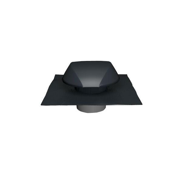 Chapeau de Ventilation Anthracite Atemax ⌀125mm Nicoll VVE12A Tuile