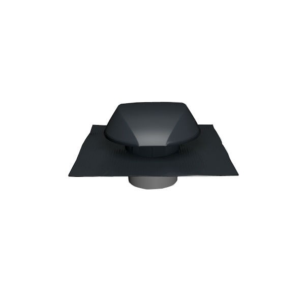 Chapeau de Ventilation Anthracite Atemax ⌀160mm Nicoll VVE16A Tuile