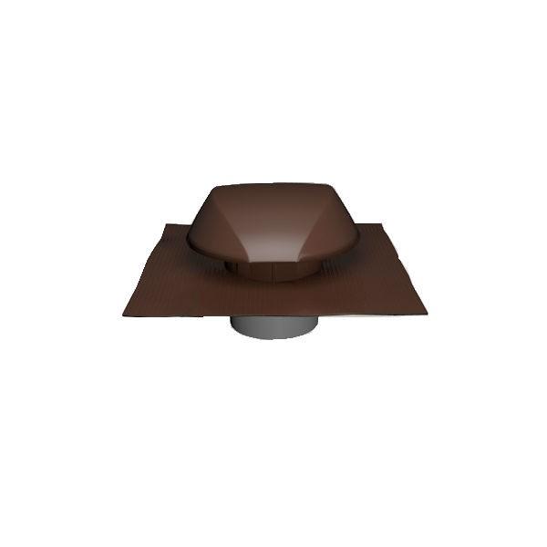Chapeau de Ventilation Marron Atemax ⌀160mm Nicoll VVE16M Tuile