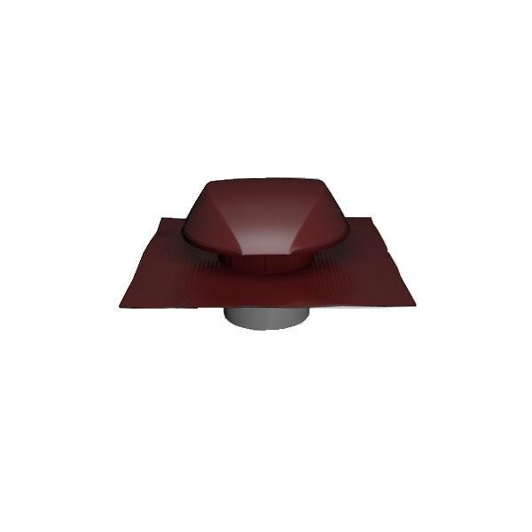Chapeau de Ventilation Rouge Atemax ⌀125mm Nicoll VVE12R Tuile
