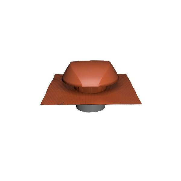 Chapeau de Ventilation Terracotta Atemax ⌀125mm Nicoll VVE12T Tuile