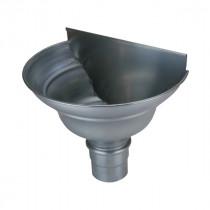 Cuvette demi-ronde Moulurée en Zinc Naturel, diam 80 mm