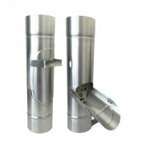 Récupérateur d'Eau Pluviale à Clapet en Zinc Naturel, diam 100 mm