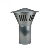 Chapeau de Sortie de Ventilation en Zinc Naturel, diam 80 mm