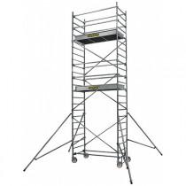 Echafaudage roulant en aluminium ST5 Centaure, hauteur plancher 4,90m