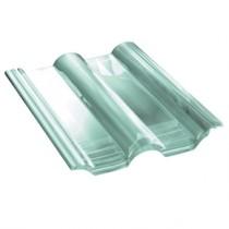 Tuile de verre Double Romane - ref Monier DR555, carton de 6 U