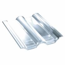Tuile plexiglass Double Romane - ref Monier DR556, carton de 10 U