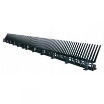 Liteau d'égout ventilé avec peigne noir, Long. 1m/Haut. 9 cm, par 20