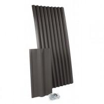 Plaque ondulée bitumée Monartoit Ultra noir, 75 plaques de 1,71 M2
