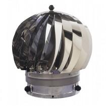 Extracteur eolien anti-refouleur Aspiromatic Sebico inox, modèle 200