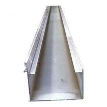 Kit gouttière simple + accessoires alu, longueur 3,25 m
