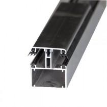Kit Jonction Profil Tube 60 + Capot - 55 mm - Blanc - Longueur 2 à 7 m