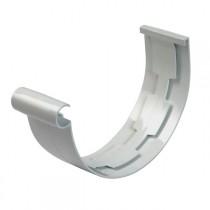 Jonction PVC à coller pour Gouttière demi ronde Gris Nicoll dev 33 cm