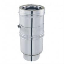 Ajustable pour Conduit de Cheminée en Inox Double Paroi Isolé Ø153mm