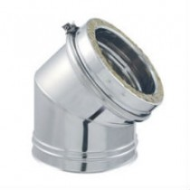 Coude 45° pour Conduit de Cheminée en Inox Double Paroi Isolé Ø180mm