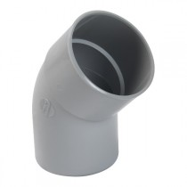 Coude PVC M-F 45° à coller pour Gouttière Gris Nicoll, diam 100 cm