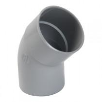 Coude PVC M-F 45° à coller pour Gouttière Gris Nicoll, diam 80 cm