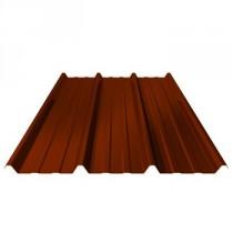 Bac acier nervuré, ep 63/100, onde nervesco, couleur rouge/brun