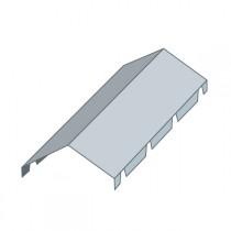 Faîtière double pour bac acier, long 2,10 m, couleur au choix