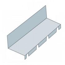 Faîtière crantée contre mur pour bac acier, long 2,10 m, coul au choix