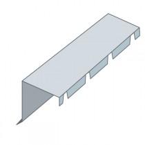 Faîtière crantée sur mur pour bac acier, long 2,10 m, couleur au choix