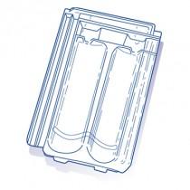 Tuile de verre H14 Hugenot, ref LR n°154, carton de 8 U