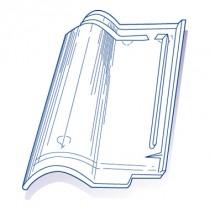 Tuile de verre Romane, ref LR n°7 bis, carton de 8 U
