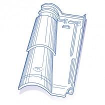 Tuile de verre Romane Canal TBF, ref LR n°31, carton de 8 U