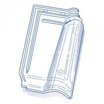 Tuile de verre Méridionale GR 13, ref LR n°9, carton de 8 U