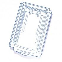 Tuile de verre H10 Hugenot, ref LR n°62, carton de 6 U