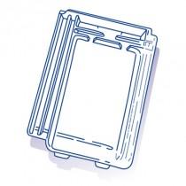 Tuile de verre Gilardoni Bbbis, ref LR n°152, carton de 10 U