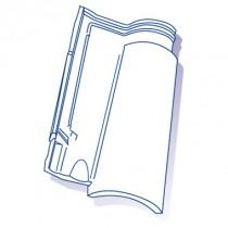 Tuile de verre Oméga 13, ref LR n°81, carton de 8 U