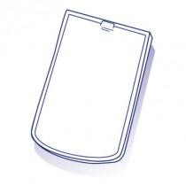 Tuile de verre Plate arrondie, ref LR n°84, carton de 20 U