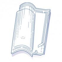 Tuile de verre Plein Sud, ref LR n°74, carton de 6 U