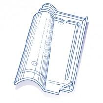 Tuile de verre Romane, ref LR n°7, carton de 8 U