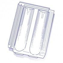 Tuile de verre Standard 9, ref LR n°61, carton de 6 U