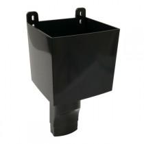 Boîte à Eau pour descendant ovoïde 90 x 56 Noir Nicoll BAO95N