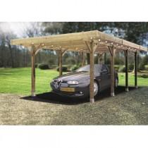 Carport bois modulable SOLID 5 x 5 m – Traitement autoclave