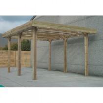 Carport bois modulable SOLID 6 x 5 x 4 m – Traitement autoclave