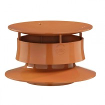 Extracteur Statique Terracotta ⌀100mm Nicoll EXTATT PVC