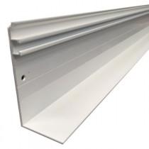 Faitière aluminium universelle - Blanc - 16, 32 et 55 mm - Longueur 3 à 6 m