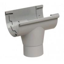 Naissance centrale Gouttière PVC à coller Gris Nicoll NAC25, dev 25 cm