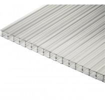 Plaque Polycarbonate Alvéolaire 2,1kg/m2 - Claire - 16 mm - 0,98 m - Longueur de 3 à 4 m