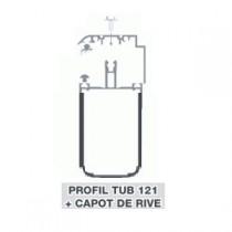 Kit Rive Profil Tube 121 + Capot - 55 mm - Blanc - Longueur de 2 m à 7 m